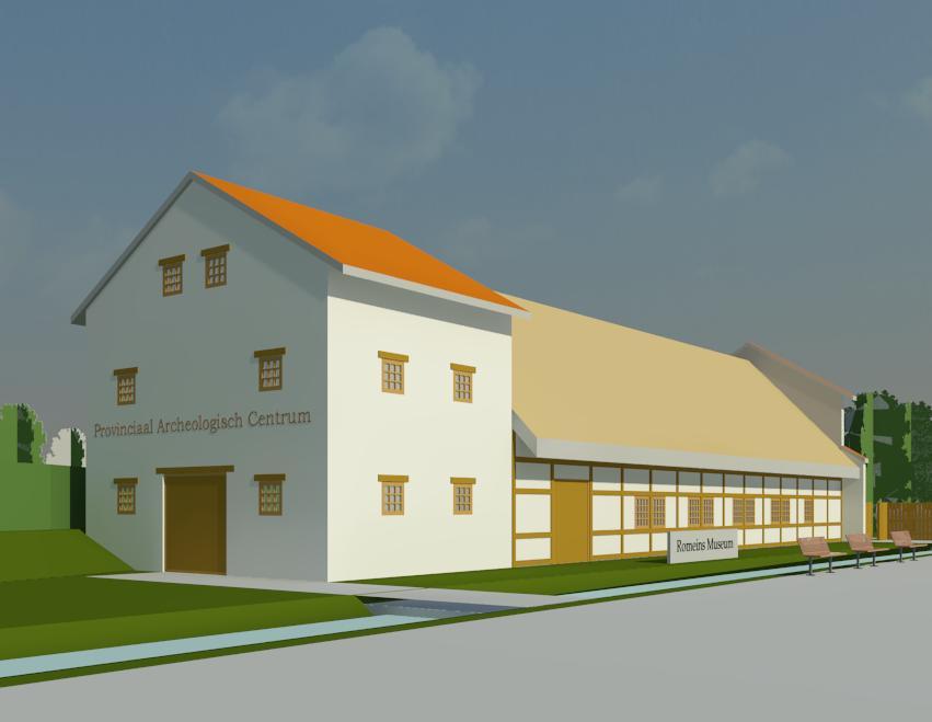 ab-visie 3D archeologiehuis bij het Archeon