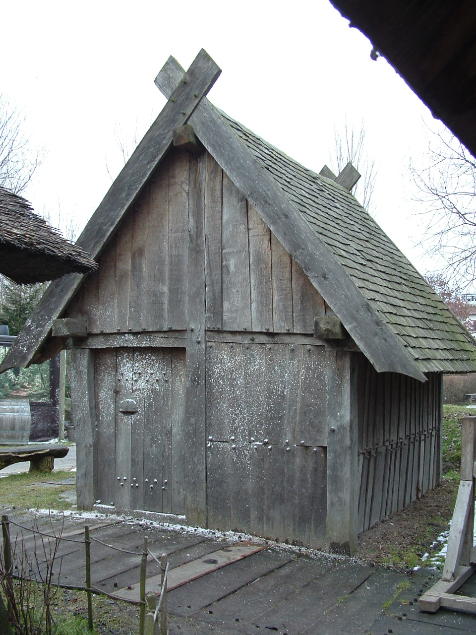 Wevershuisje in de Karolingische tijd